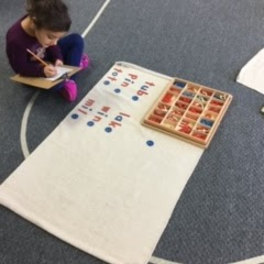 Student with Moveable Alphabet